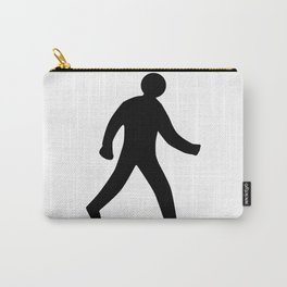Walking Man Silhouette Carry-All Pouch