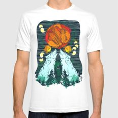 Landscape SMALL White Mens Fitted Tee