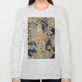 1898 - 1900 Femme a Marguerite by Alphonse Mucha Long Sleeve T-shirt