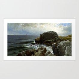 Castle Rock, Marblehead, 1878 by Alfred Thompson Bricher Art Print