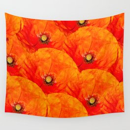 Poppies close up - natural pattern Wall Tapestry