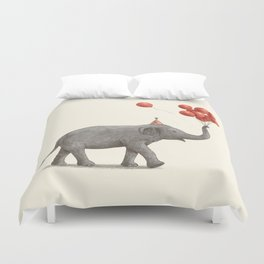 Party Elephant Duvet Cover