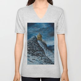 The Temple of Dionysus Unisex V-Neck