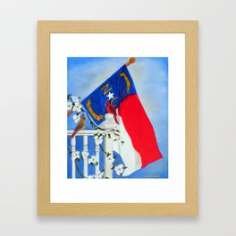 North Carolina - A State of Art Framed Art Print