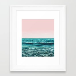 Ocean Love #society6 #oceanprints #buyart Framed Art Print