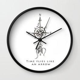 Time flies like an arrow (tattoo style) Wall Clock