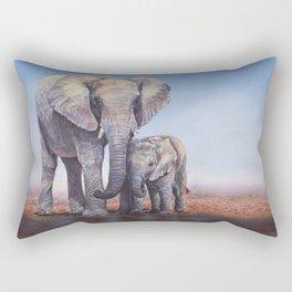 Elephants Mom Baby Rectangular Pillow
