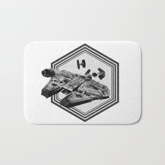 Millennium Falcon Art - StarWars Dot-work Pointillism Fan Art Bath Mat