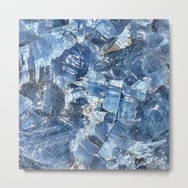 Blue Calcite Metal Print