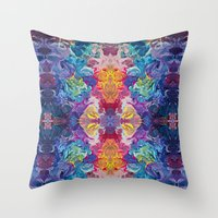 notebook Throw Pillows featuring Guardian's Notebook by Tanya Shatseva