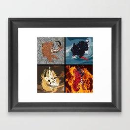 The Elemental Fiends Framed Art Print
