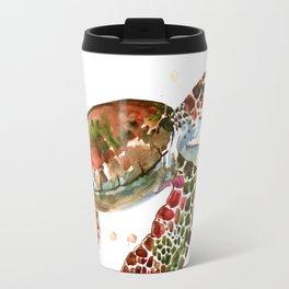 Sea Turtle, Brown, Olive green Pink Shades Travel Mug