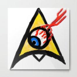 Chevron Eye Badge Metal Print