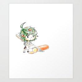 Chibi Salad Personified Art Print