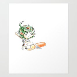Chibi Salad Personified Art Print