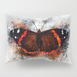 Red Admiral Butterfly Pillow Sham