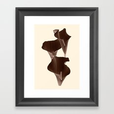 Brown Calla Lilly. Framed Art Print