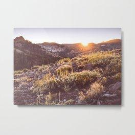Sunset in the High Sierra Metal Print