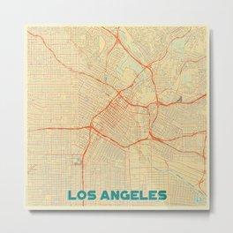 Los Angeles Map Retro Metal Print