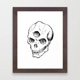 Triclops Skull Framed Art Print