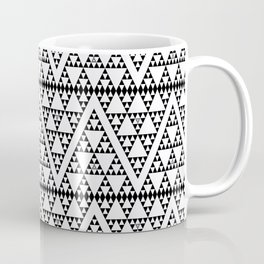 Triangles in Triangles Black on White Coffee Mug