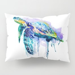 Watercolor Sea Turtle Pillow Sham