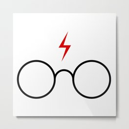 harryPotter glasses Metal Print