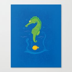 MANY QUESTION BLUE Canvas Print