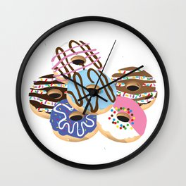 Iced Donuts Wall Clock