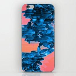 Velocious Blue Little Tree iPhone Skin