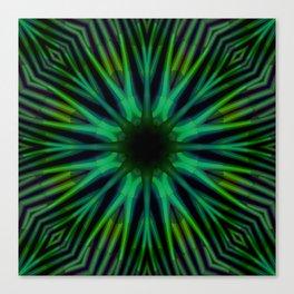 Green Diamond Lattice Canvas Print