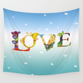 Love In The Air Wall Tapestry