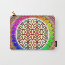 Flower OF Live - Rainbow Lotus I Carry-All Pouch