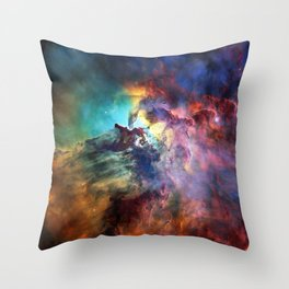 Lagoon Nebula Throw Pillow