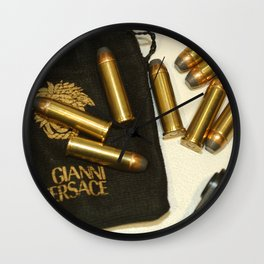 Versace Bullets Colt Wall Clock