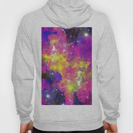 Journey Through Space - Abstract purple and blue, space themed artwork Hoody