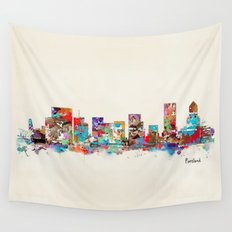 Portland Oregon skyline Wall Tapestry