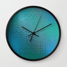 Trinity Pattern (ocean blues) Wall Clock