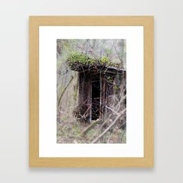 An Abandoned Shed in the Woods Framed Art Print