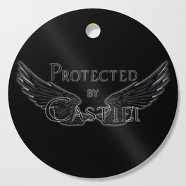 Protected by Castiel Black Wings Cutting Board