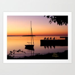 Door County, Wisconsin Sunset Art Print
