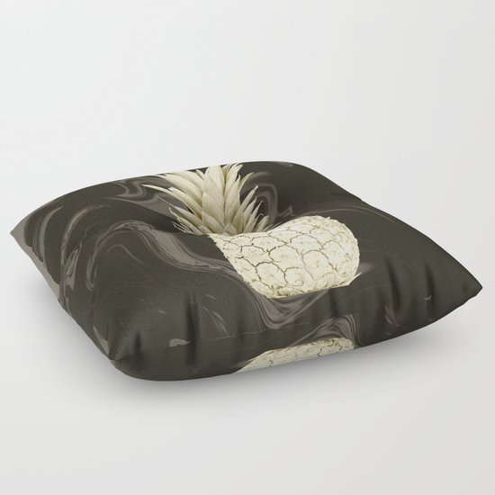 golden pineapple marble floor pillow by isabella raines