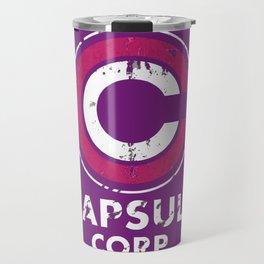 Capsule Corp Vintage pnk and white Travel Mug