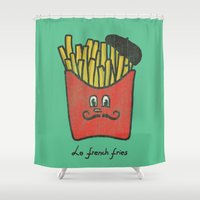 french Shower Curtains featuring French Fries by Picomodi