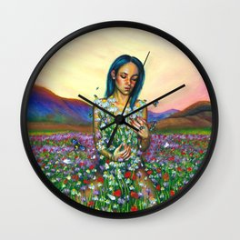 Loves me. Loves me not Wall Clock