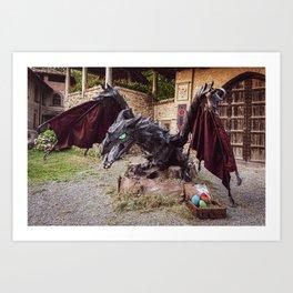 L'INCANTO DEL TRONO on medieval village of Grazzano Visconti (PC) 15-06-2019 Art Print