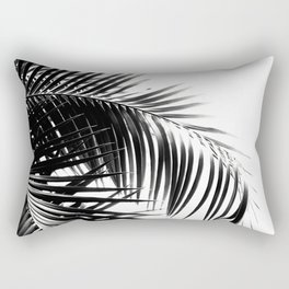 Palm Leaves Black & White Vibes #3 #tropical #decor #art #society6 Rectangular Pillow