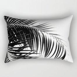 Palm Leaves Black & White Vibes #3 #tropical #decor #art #society6 Rectangular Pillow