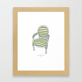 Striped Chair Print Framed Art Print