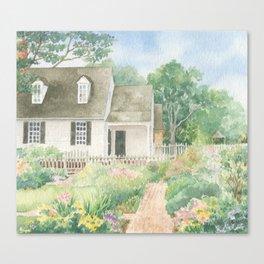 Williamsburg Garden Cottage by Sandy Thomson Canvas Print